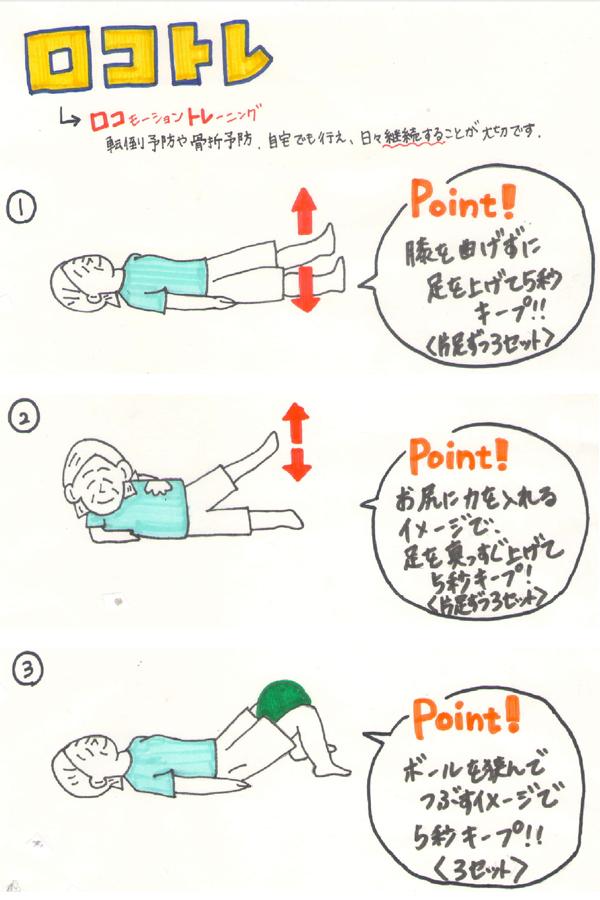 運動器症候群;ロコモティブシンドローム トレーニング
